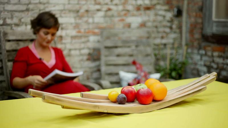 Upcycling van stoel tot fruitschaal